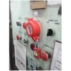 Safe D-Lock Mushroom Button Lockout