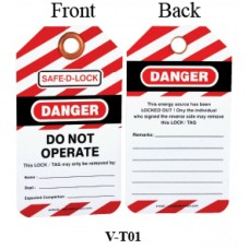 Safe D-Lock Lockout Tags